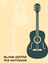 Guitar Tab Notebook: Large Print 8.5x11 - 104 Manuscript Paper with Chord Boxes, Staff, Tab and Lyric - Blank Sheet Music - (Staff Paper) V