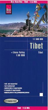 Reise Know-How Landkarte Tibet (1:1.500.000) und Lhasa-Valley (1:50.000)
