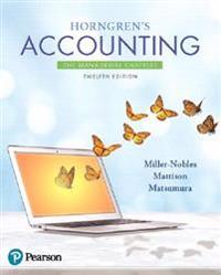 Horngren's Accounting: The Managerial Chapters Plus Myaccountinglab with Pearson Etext -- Access Card Package [With Access Code]
