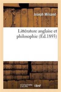 Litterature Anglaise Et Philosophie