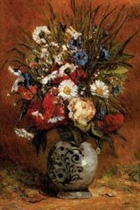 Daisies and Peonies in Blue Vase by Paul Gauguin - 1876: Journal (Blank / Line