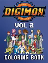 Digimon Coloring Book - 80 Pages A4 (Volume 2): Fantastic Coloring Book about the Adventures of Digimon