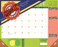 Work It! 17-Month Desk Jotter 2017-2018 Calendar