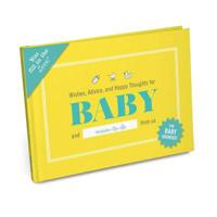 Wishes, advice, and happy thoughts for baby fill in the love journal