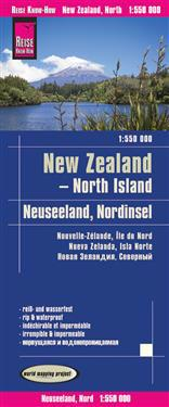 Reise Know-How Landkarte Neuseeland, Nordinsel 1:550.000