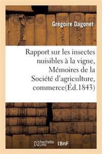 Rapport Sur Les Insectes Nuisibles � La Vigne