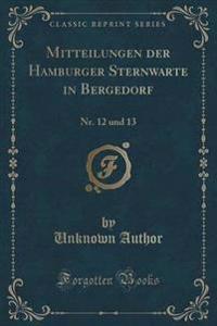 Mitteilungen Der Hamburger Sternwarte in Bergedorf