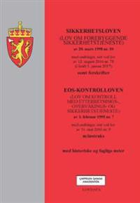Sikkerhetsloven ; EOS-kontrolloven : (lov om kontroll med etterretnings-, overvåkings- og sikkerhetstjeneste) av 3. februar 1995 nr.7 : med endringer, sist ved lov av 11. mai 2016 nr. 9 : m/instruks : med historiske og faglige noter