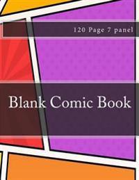 Blank Comic Book: Blank 7 Panel Jagged Comic Sketchbook