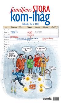 Familjens STORA kom-ihåg-kalender 2018