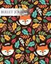 Bullet Journal Notebook Dotted Grid, Graph Grid-Lined Paper, Large, 8x10,150 Pages: Colorful Leaves Autumn Animal Fox Faces Peegaboo Brown Covers: Mas