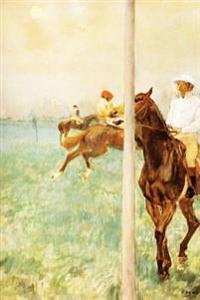 """Jockeys Before the Start with Flagpoll"" by Edgar Degas - 1879: Journal (Blank / Lined)"