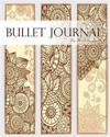 """Bullet Journal, Notebook Dotted Grid, Graph Grid-Lined Paper, Large, 8""""x10,"""" 150 Pages: Mid Century Mandala Arts Brown Covers: Master Journaling with"""