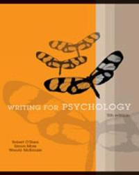 Writing for Psychology with Infotrac