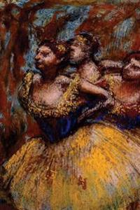 ''Three Dancers Yellow Skirts Blue Blouses'' by Edgar Degas: Journal (Blank / Lined)