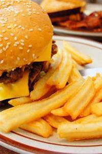An Awesomely Delicious Cheeseburger and French Fries Journal: 150 Page Lined Notebook/Diary