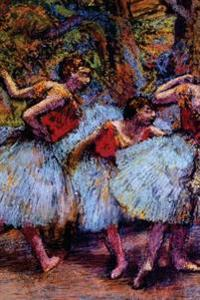 ''Three Dancers Blue Skirts Red Blouses'' by Edgar Degas: Journal (Blank / Lined)