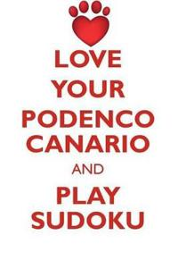 Love Your Podenco Canario and Play Sudoku Podenco Canario Sudoku Level 1 of 15