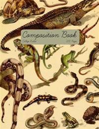 Vintage Reptile Composition Book