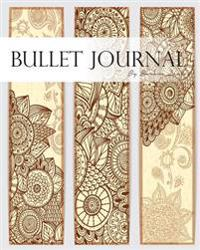 "Bullet Journal, Notebook Dotted Grid, Graph Grid-Lined Paper, Large, 8""x10,"" 150 Pages: Mid Century Mandala Arts Brown Covers: Master Journaling with"