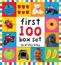 First 100 Box Set: First 100 Words; First 100 Animals; First 100 Trucks and Things That Go; First 100 Numbers; First 100 Colors, ABC, Num