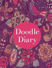 Doodle Diary: A Journal for Girls (Extra Large 8.5 X11 Inches, Hand Drawn Doodles on Every Page, White Paper, Write and Draw)