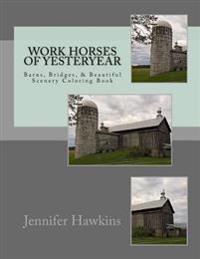 Work Horses of Yesteryear: Barns, Bridges, & Beautiful Scenery Coloring Book