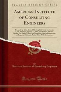 American Institute of Consulting Engineers