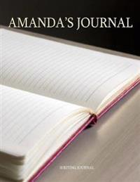 Amanda's Journal: 100 Lined Pages Ready for Your Thoughts