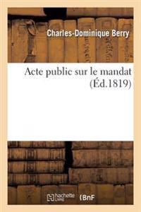 Acte Public Sur Le Mandat