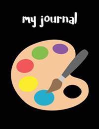 My Journal: Artist Palette Emoji - Blank Unlined Notebook - 8.5 X 11