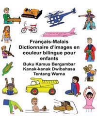 Français-Malais Dictionnaire d'Images En Couleur Bilingue Pour Enfants Buku Kamus Bergambar Kanak-Kanak Dwibahasa Tentang Warna