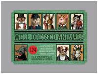 Dressed Animals - Sticker Box: 166 Fantastically Dressed, Coiffed, and Be-Hatted Animals Stickers in a Variety of Shapes and Sizes