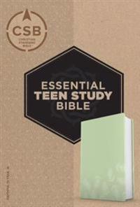 CSB Essential Teen Study Bible, Personal Size, Green Palms Leathertouch