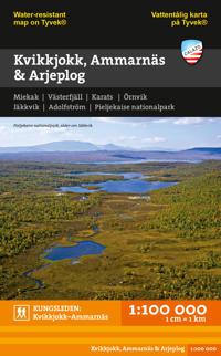 Kvikkjokk, Ammarnäs & Arjeplog 1:100.000