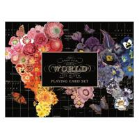 Map of the World Full Bloom Playing Card Set