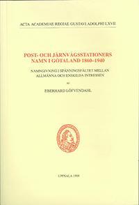 Post- och järnvägsstationers namn i Götaland 1860–1940
