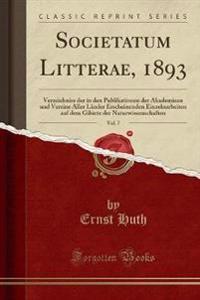 Societatum Litterae, 1893, Vol. 7