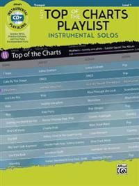 Easy Top of the Charts Playlist Instrumental Solos: Trumpet, Book & CD