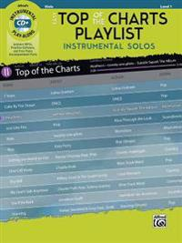 Easy Top of the Charts Playlist Instrumental Solos for Strings: Viola, Book & CD