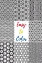 Easy to Color: 60 Beautiful Black & White Patterns to Color in & Relax Your Mind
