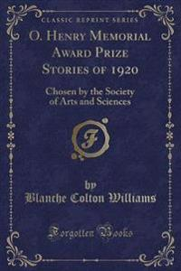 O. Henry Memorial Award Prize Stories of 1920