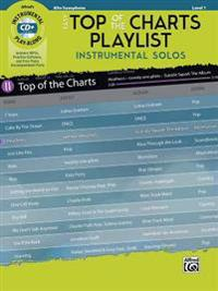 Easy Top of the Charts Playlist Instrumental Solos: Alto Sax, Book & CD