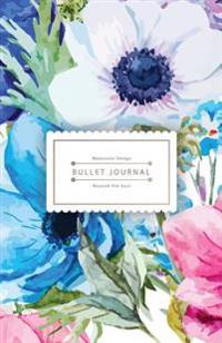 Bullet Journal Beyond the Soul: Watercolor Flower Book Journal - 130 Dot Grid Pages - High Inspiring Creative Design Idea