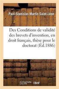 Faculte de Droit de Paris. de L'Occupation, En Droit Romain. Des Conditions de Validite