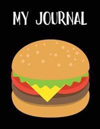 My Journal: Cheeseburger Emoji - Blank Unlined Notebook - 8.5 X 11