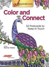 Inkspirations Color and Connect: 32 Postcards to Keep in Touch