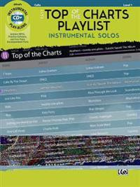 Easy Top of the Charts Playlist Instrumental Solos for Strings: Cello, Book & CD
