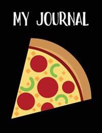 My Journal: Pepperoni Pizza Emoji - Blank Unlined Notebook - 8.5 X 11