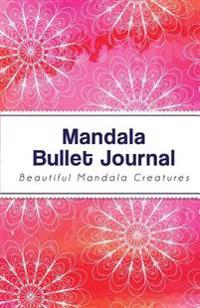 Mandala Bullet Journal: Red Mandala Design - 130 Dot Grid Pages, Perfect Designed (Portable Size)